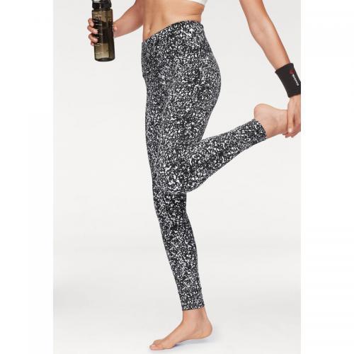 ff96982e42b32 Reebok - Legging femme yoga Speedwick® Reebok - Noir - Blanc - Sport femme