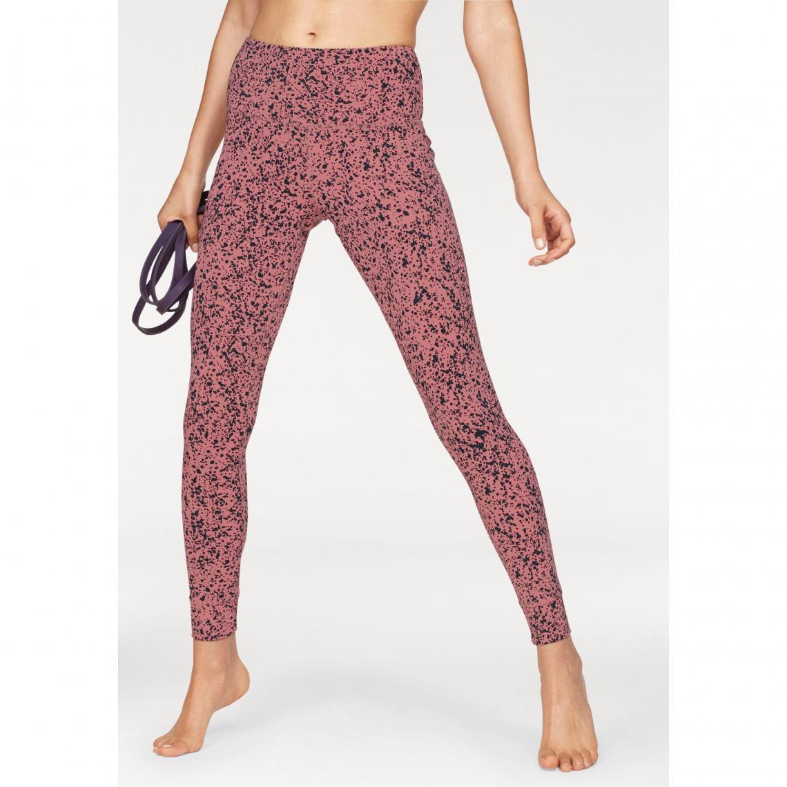 Legging Femme Yoga Speedwick Reebok Rose Noir 3 Suisses