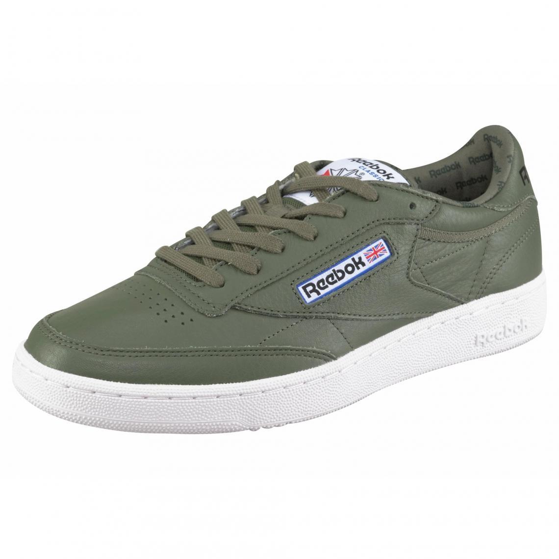 Suisses So De Chaussures Club Reebok Homme Sport Vert C85 Olive3 0PnOk8wX