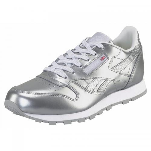 be4f168d888fb Reebok - Baskets de training junior Reebok Classic Leather Metallic -  argenté - Reebok