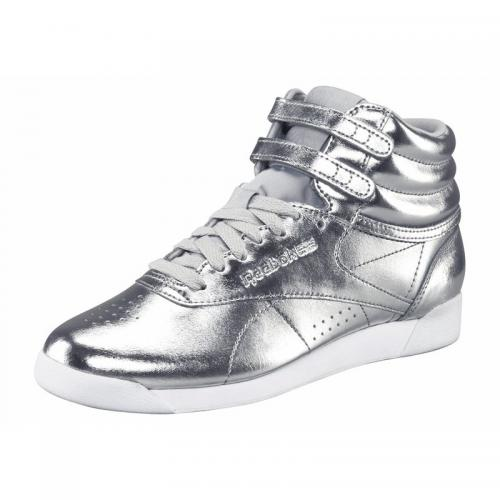6876c63102533 Reebok - Reebok Freestyle Hi Metallic chaussures de running femme - argenté  - Reebok
