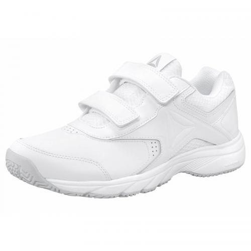 Sneakers de marche en cuir femme Wmns Work'n Cushion 3.0 Reebok Blanc
