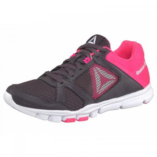 2506d9bb41470 Reebok - Sneakers de fitness femme Yourflex Trainette Reebok - aubergine    rose vif - Reebok