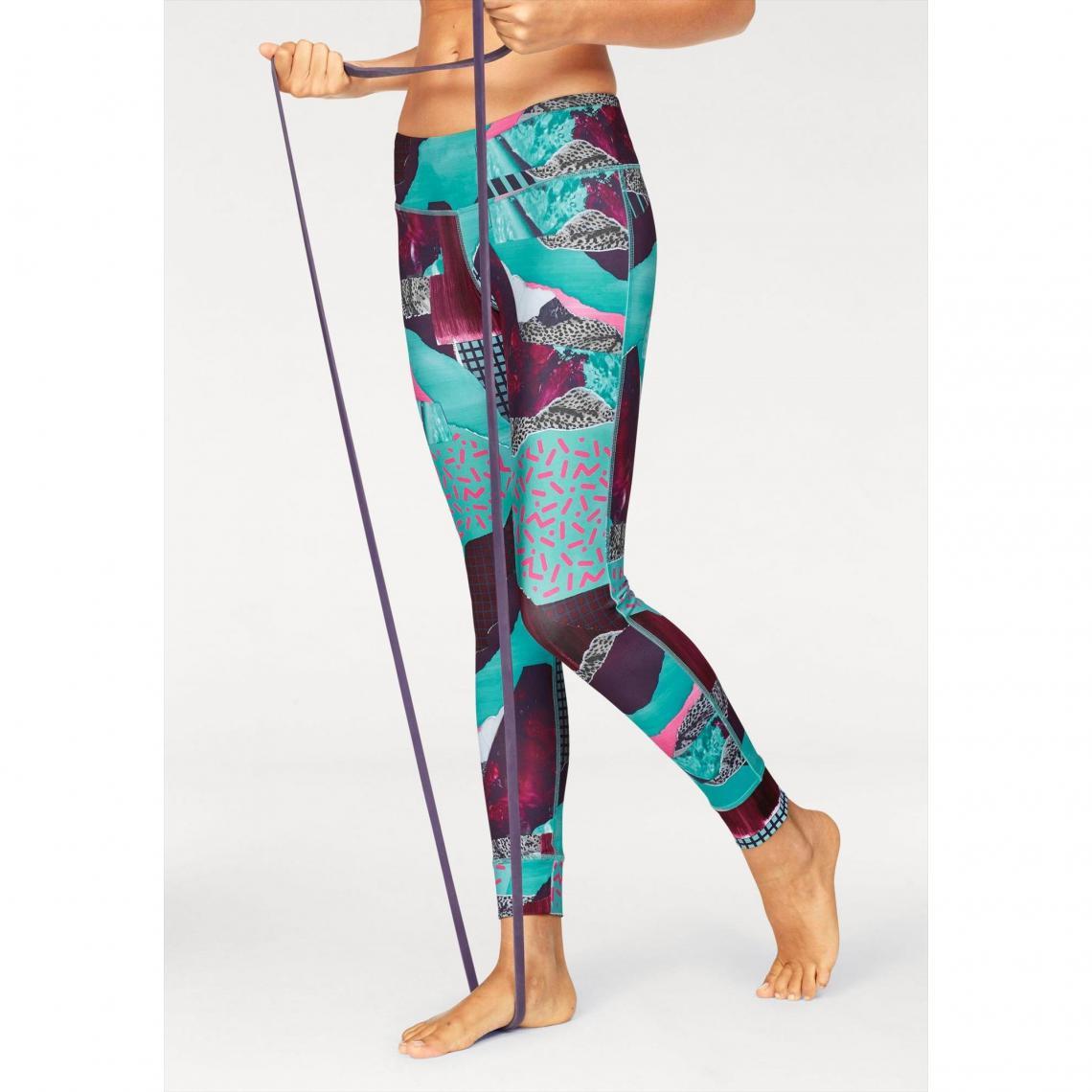 Legging Lux Bold Tight femme Reebok - Turquoise Reebok Femme 42c62d5c709