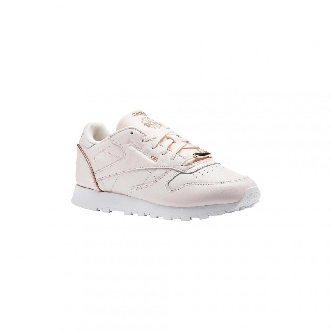 0821bb2d17f Classic femme de Rose Chaussures Clair HW Reebok sport Leather dBId1xw