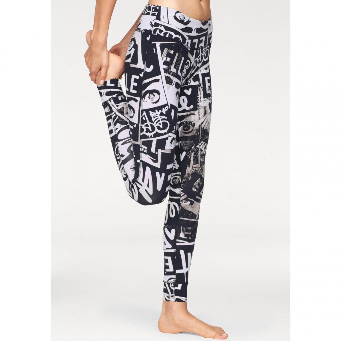 Legging femme Speedwick® REEBOK X ELLE LUX TIGHT Reebok Noir Blanc Plus de détails