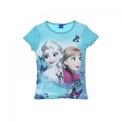 c326bc0588316 Reine Des Neiges - Tee-shirt manches courtes fille Reine des Neiges - Bleu -
