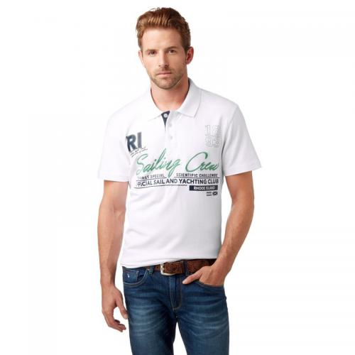 Rhode Island - Polo manches courtes maille piquée homme Rhode Island - Blanc - Polos homme