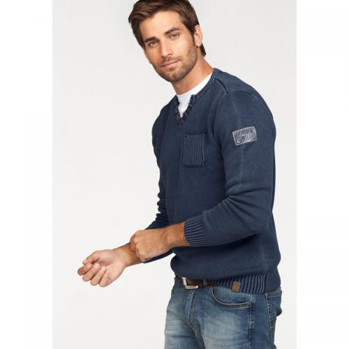 Rhode Island - Pull col sérafino homme Rhode Island - Bleu - Promotions Homme
