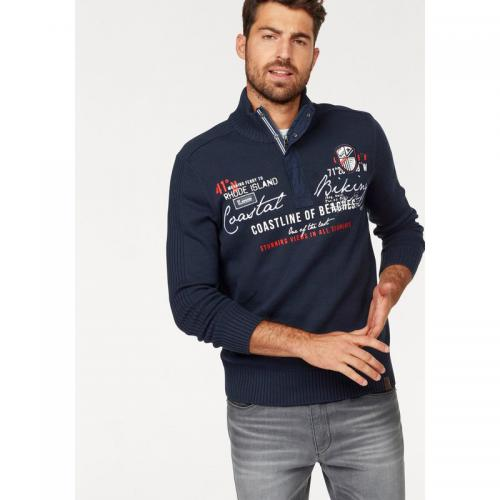 Rhode Island - Pull zippé manches longues homme Rhode Island - Marine - Pulls homme