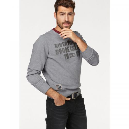 Rhode Island - Pull manches longues homme Rhode Island - Gris Moyen Chiné - Pulls homme