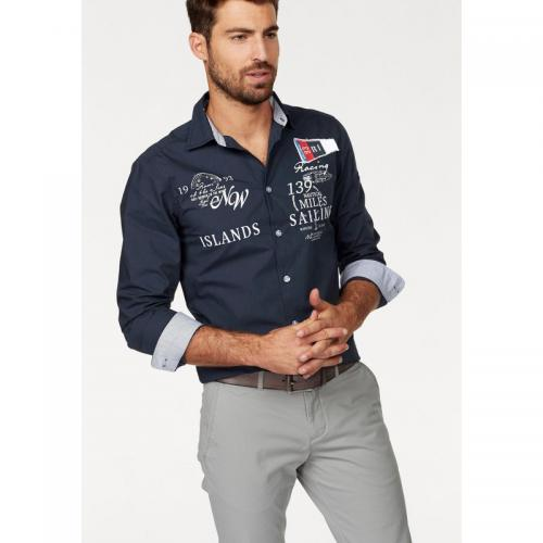 84928e318f97 Rhode Island - Chemise manches longues homme Rhode Island - Marine - Promos  Homme