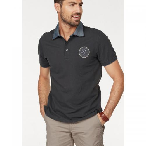 Rhode Island - Polo manches courtes homme Rhode Island - Gris Anthracite - Polos homme