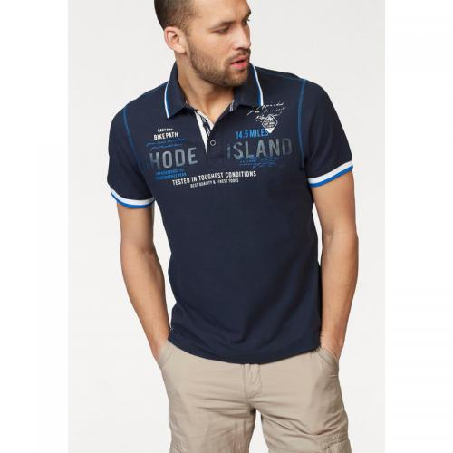 Rhode Island - Polo homme Rhode Island en maille piquée - Marine - Polos homme