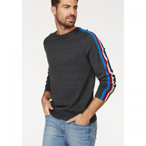 Rhode Island - Pull col rond manches longues homme John Devin - Gris Anthracite Chiné - Pulls homme