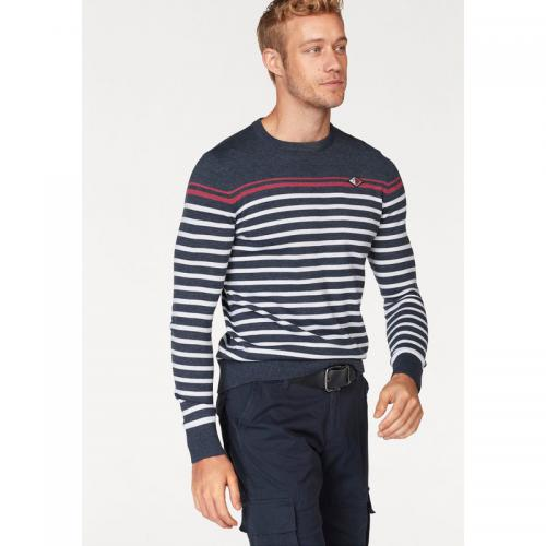 Rhode Island - Pull rayé col rond manches longues homme Rhode Island - Marine Moucheté - Pull / Gilet / Sweatshirt