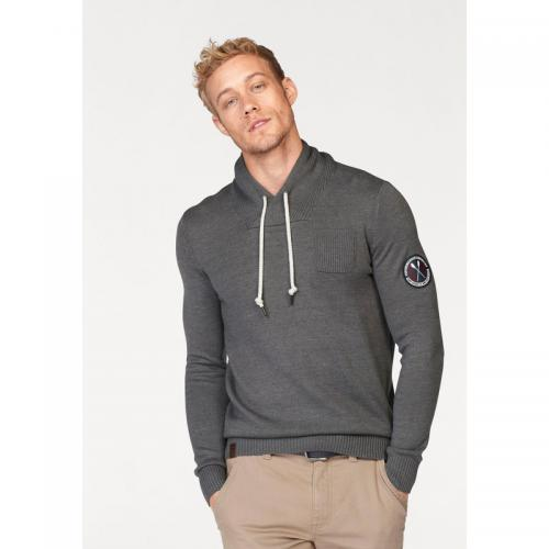 Rhode Island - Pull col châle homme Rhode Island - Gris Moyen Chiné - Grand Froid Pull / Gilet / Sweatshirt