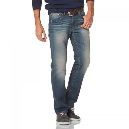Rhode Island - Jean stretch Reed coupe droite Rhode Island homme - Bleu - Promos vêtements homme