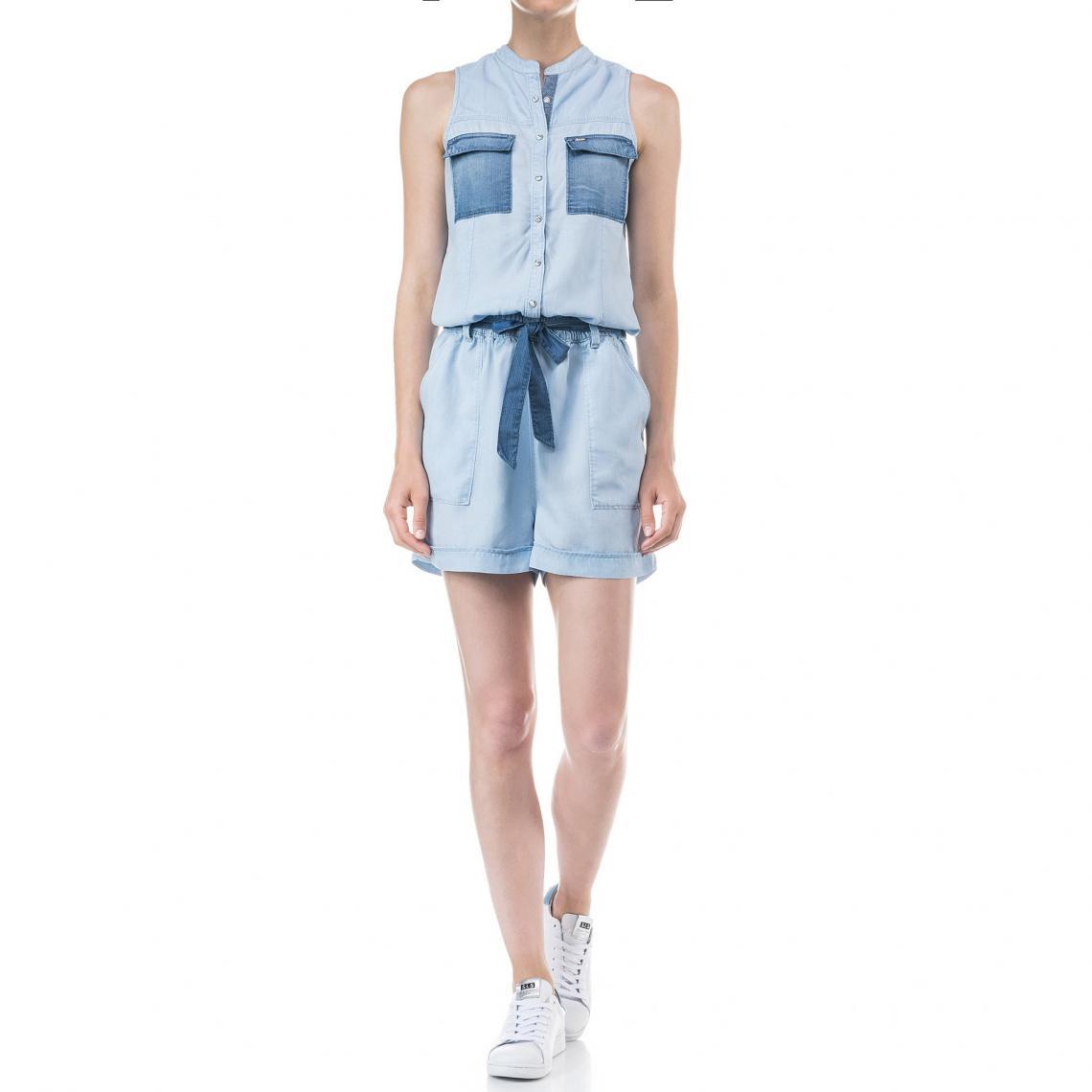 Jean Bleu3 Short Salsa Bicolore Combinaison En Suisses Femme vnOw8mN0