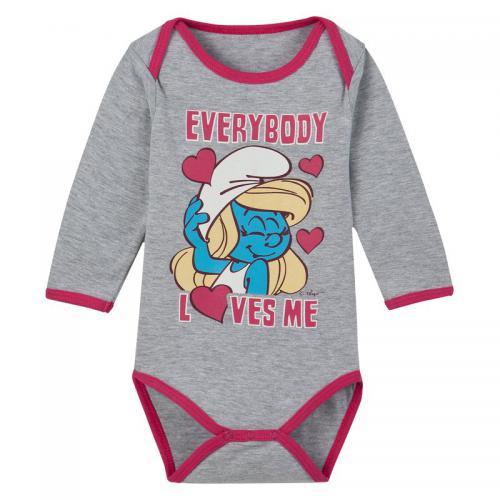 Schtroumpfs - Body manche longue bébé fille Schtroumpfs - Gris - Promos  vêtements bébé 8a57eadc3b8