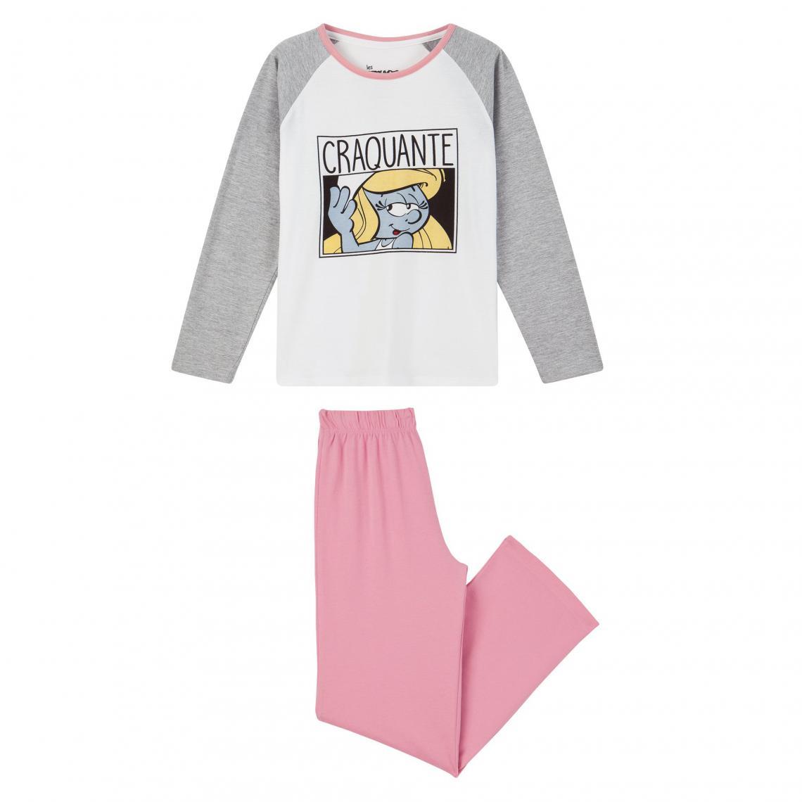 Pyjama long fille Schtroumpfs - Gris - 3Suisses