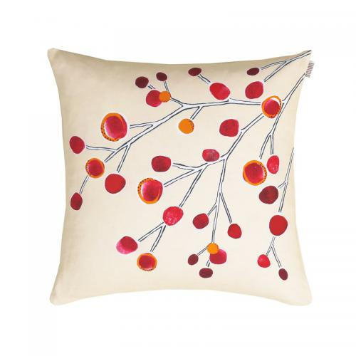 Scion Living - Coussin en percale de coton Dans le vent Scion Living - Multicolore Orange - Poufs, coussins de canapé
