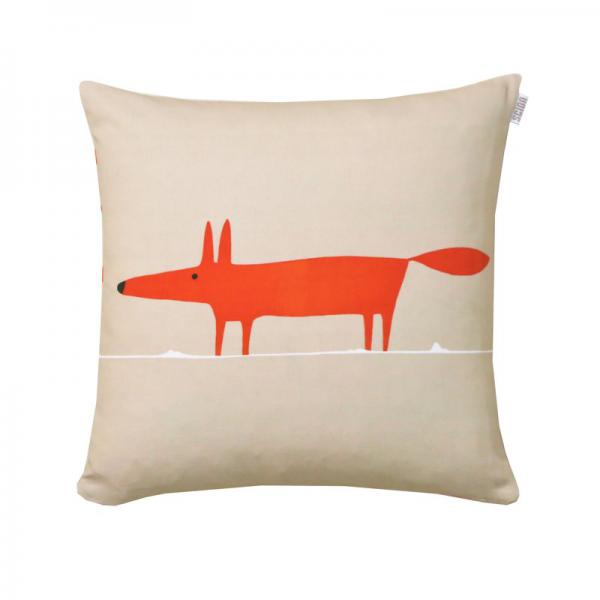 Coussin en percale de coton Mr.Fox Scion Living - Mandarine Scion Living Linge de maison