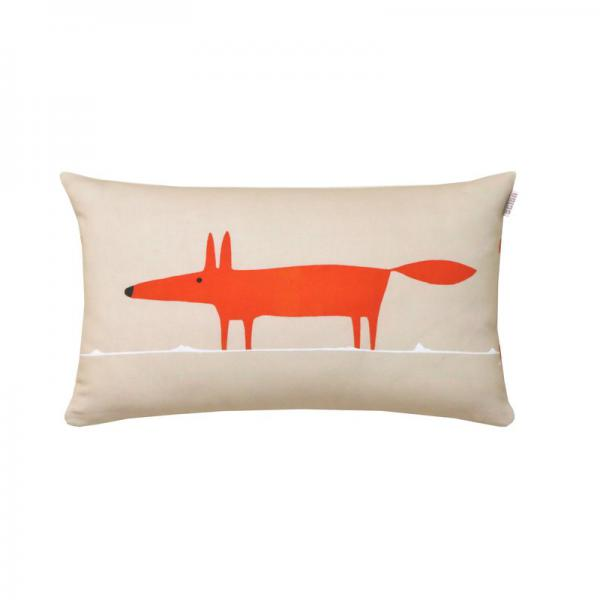 Coussin en percale de coton Mr.Fox Scion Living - Mandarine Scion Living