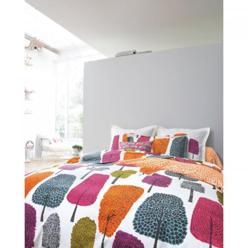Scion Living - Housse de couette en percale de coton Cèdres Scion Living - Orange - Nouveautés Linge de maison