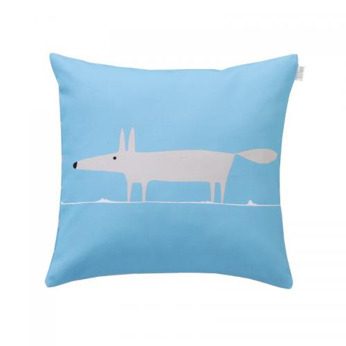 Scion Living - Coussin en percale de coton Mr.Fox Scion Living - Bleu - Coussins