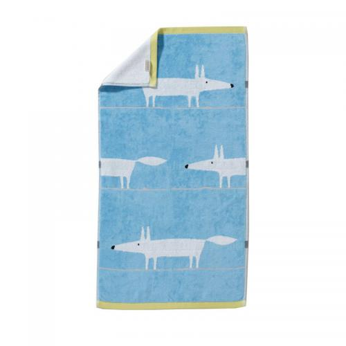 Scion Living - Serviette bain Mr.Fox éponge 550 g/m² Scion Living - Bleu - Serviette de toilette