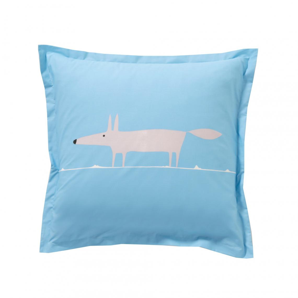 Scion living Mr Fox Taie Rectangle 50x75 cm Bleu Coton