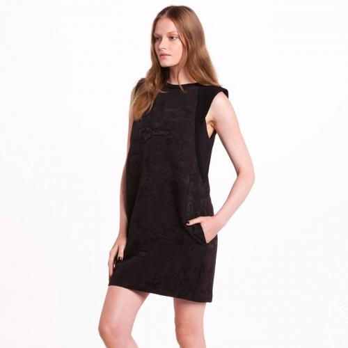 See u Soon - Robe courte sans manches jacquard femme See U Soon - Noir - Promotions