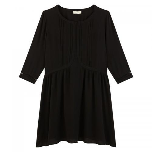 1b43ec45e14b5 Robe manches 3/4 courte femme See U Soon - Noir