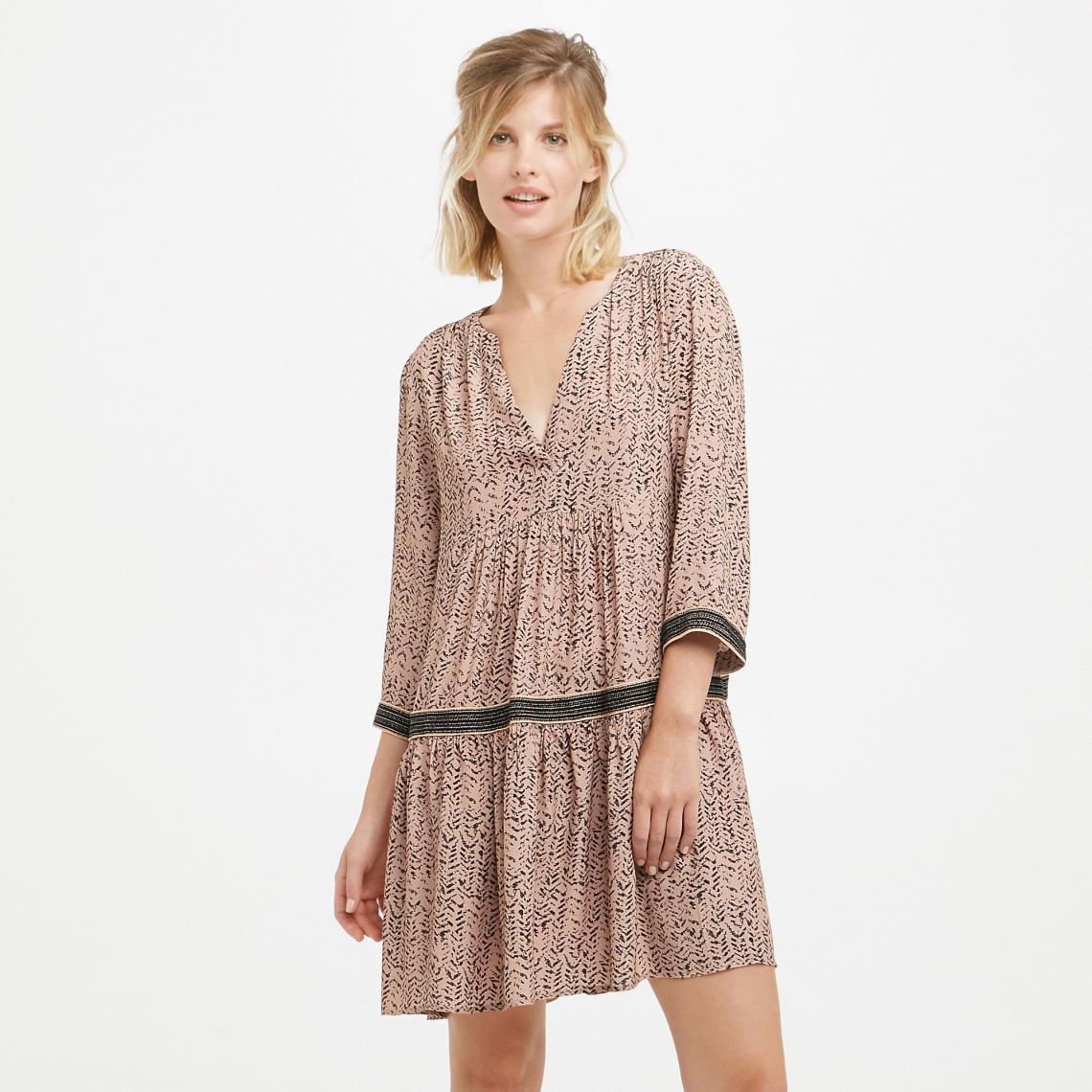 3a2e597f7c6 Robe courte imprimée ample femme See U Soon - Rose See u Soon Femme