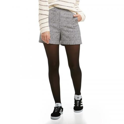 d3220c3acc7 See u Soon - Short esprit jacquard femme See U Soon - Noir - Shorts