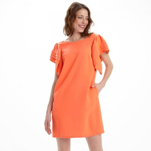 See u Soon - Robe manches papillon femme See U Soon - Orange - Robes femme