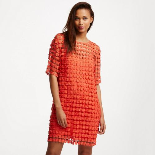 See u Soon - Robe courte Marguerite femme See U soon - Orange - Robes femme