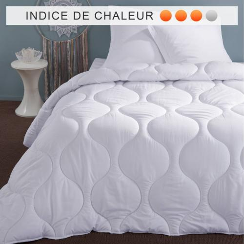 Selenia - Couette synthétique 350 g/m2 enveloppe microfibre SELENIA - Blanc - Couettes adulte