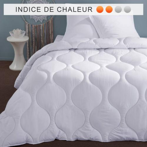 Selenia - Couette synthétique 200 g/m2 enveloppe microfibre SELENIA - Blanc - Couettes adulte