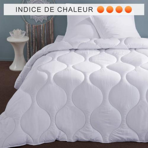 Selenia - Couette synthétique 500 g/m2 enveloppe microfibre SELENIA - Blanc - Couettes adulte