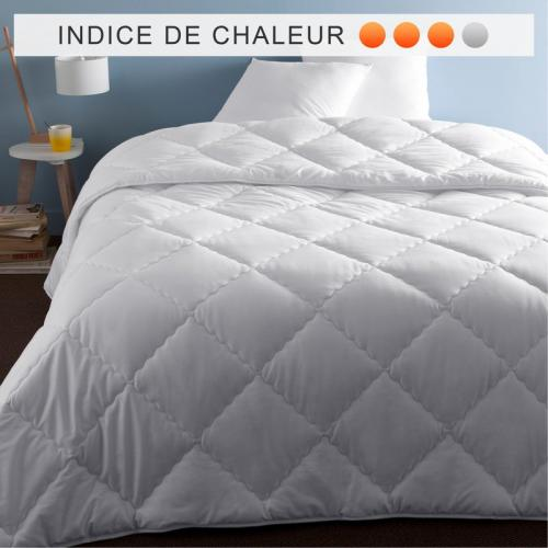 Selenia - Couette synthétique 350 g/m² enveloppe 100% coton SELENIA - Blanc - Couettes adulte