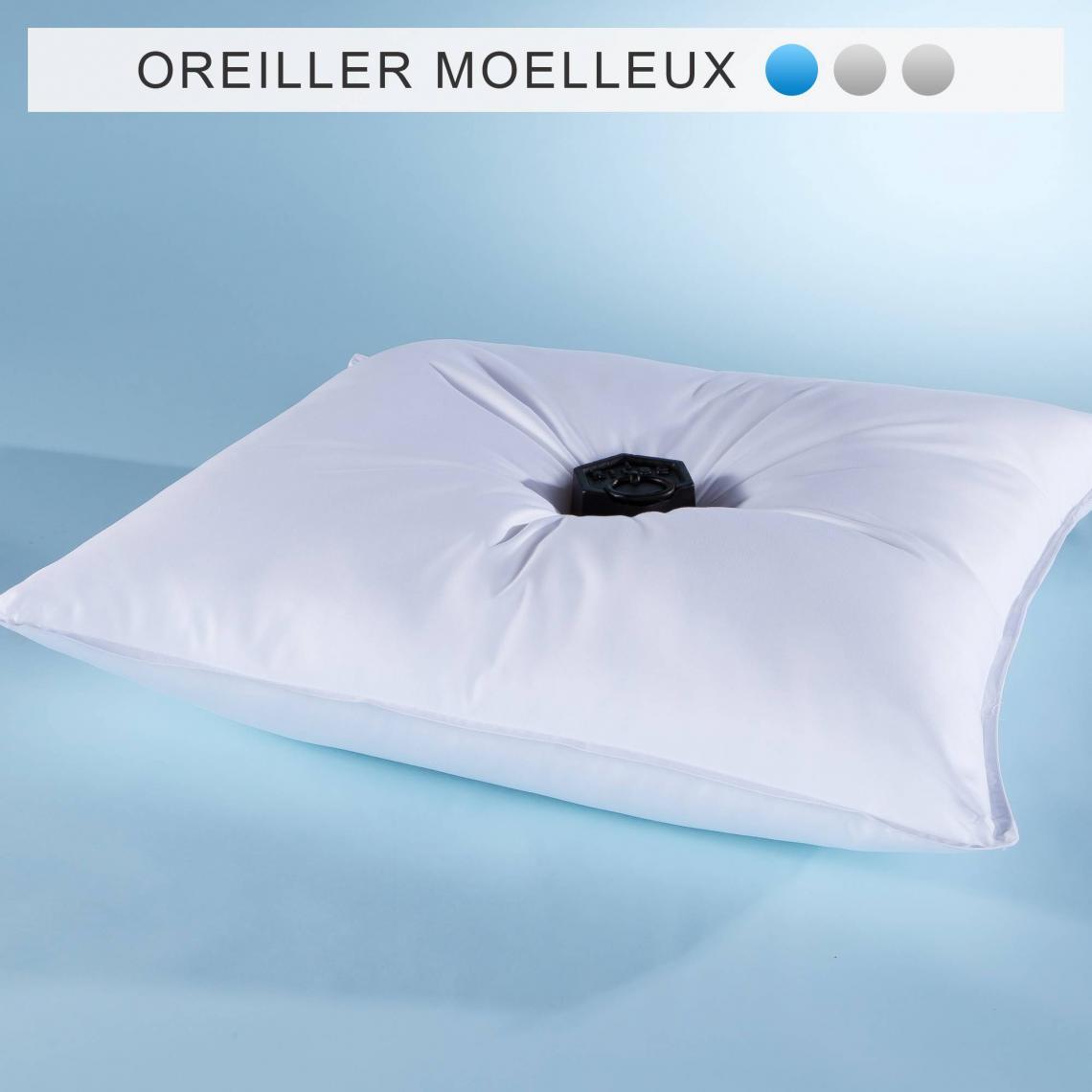 Oreiller Synthetique Microfibre Selenia Confort Moelleux Blanc