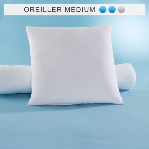 Oreiller synthétique Comforel® Allerban® SELENIA confort medium - Naturel