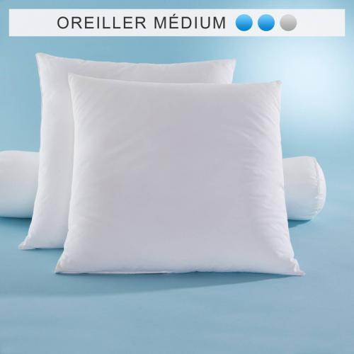 Lot de 2 oreillers synthétiques Comforel® Allerban® SELENIA confort medium - Naturel