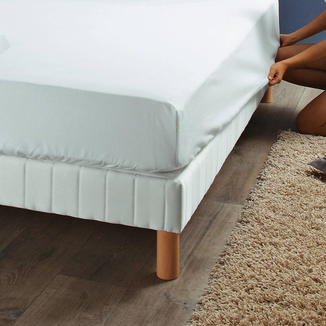 Literie De Luxe Suisse protège-matelas luxe selenia forme drap-housse, en molleton pur coton -  blanc 12 avis plus de détails