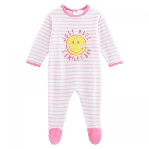 Smiley World - Dors bien velours bébé fille Smiley - Rose - Toutes Les Promos