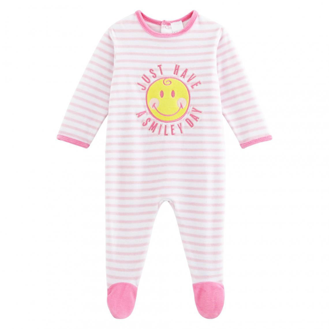 318794b0b7d9 Dors bien velours bébé fille Smiley - Rose Smiley World Enfant