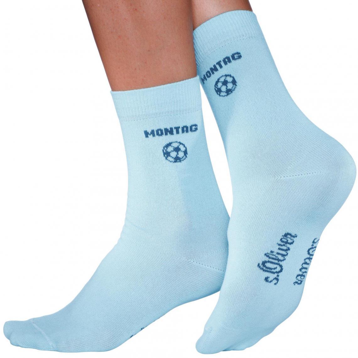 0e177c1322d94 Lot de 7 paires de chaussettes, fille, garçon S.Oliver - Bleu   3 ...