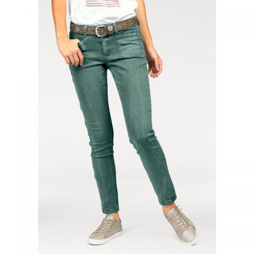 S.Oliver - Jean skinny fit femme stretch S. Oliver Red Label - Vert - S.Oliver